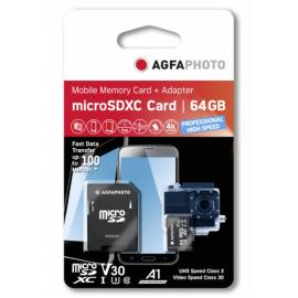 AgfaPhoto MicroSDXC UHS I   64GB Prof. High Speed U3 V30 A1