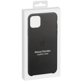 Apple iPhone 11 Pro Max Leather Case Black
