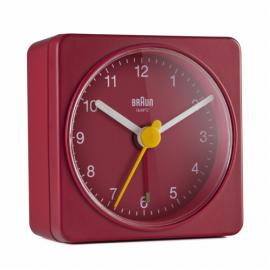 Braun BC 02 R quartz alarm clock red