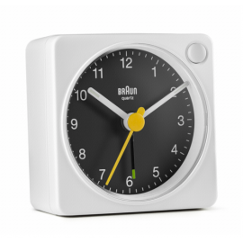 Braun BC 02 XBW quartz alarm black / white with light switch
