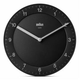 Braun BC 06 B Quartz wall clock analog black