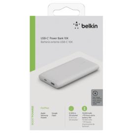 Belkin Power Bank 18W 10.000mAh Power Delivery, white BPB001btWH