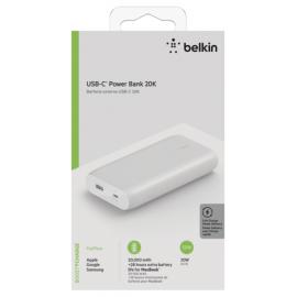 Belkin Power Bank 30W 20.000mAh Power Delivery, white BPB002btWT