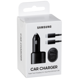 Samsung In Car Charger 2Port Type C+USB and Cable
