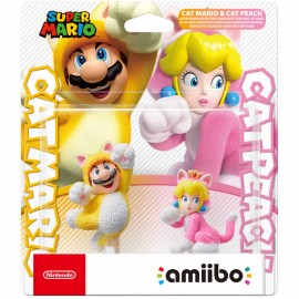Nintendo amiibo Twin Pack Cat Mario and Cat Peach