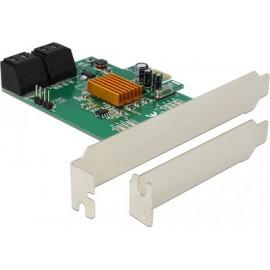 Adapter DeLock Speichercontroller SATA 6Gb/s - 4 Sender