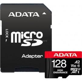 ADATA High Endurance 128 GB microSDXC, memory card (Class 10, UHS-I U3, V30, A2)