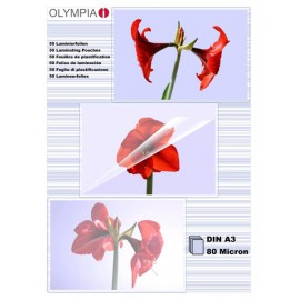 Olympia 1x25 Laminating pouches DIN A3 80 micron