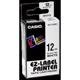 Casio XR-12 WE 12 mm black on white