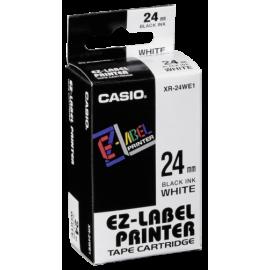 Casio XR-24 WE 1 24 mm black on white