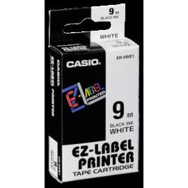 Casio XR-9 WE 9 mm black on white