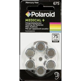 1x6 Polaroid Zinc Air 675 Hearing Aid Batteries