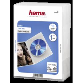 1x10 Hama Slim DVD Jewel Case transparent                83890