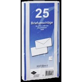 Pacsafe 1x25 Envelopes Din Lang Self-adhesive White