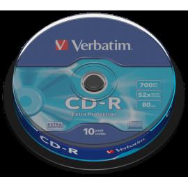 1x10 Verbatim CD-R 80 / 700MB 52x Speed Extra Protection CB