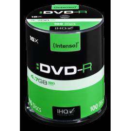 1x100 Intenso DVD-R 4,7GB 16x Speed, Cakebox