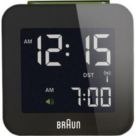 Braun BNC 008 Radio Controlled Travel Alarm Clock black