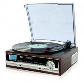 Camry CR 1113 Belt-drive audio turntable Black, Cappuccino, Chrome, Wood
