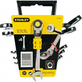 Stanley Σετ Γερμανοπολύγωνα Καστάνιας 8-19mm 6τμχ