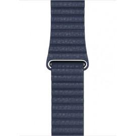 Apple Leather Loop Medium 44mm Diver Blue