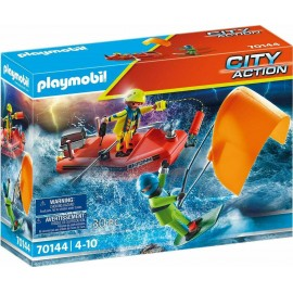 Playmobil City Action 70144 Kitesurfer Rescue With Boat