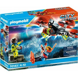 Playmobil City Action 70143 Diver Rescue With Rescue Drone