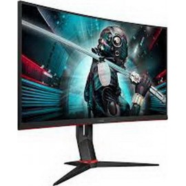68,6cm/27 (1920x1080) AOC C27G2AE Gaming Curved 16:9 1ms 165Hz VGA HDMI DisplayPort VESA Speaker Full HD Black Red