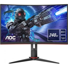 80cm/31,5 (1920x1080) AOC C32G2AE Gaming 165HZ 16:9 1ms VGA DisplayPort 2xHDMI VESA Speaker Full HD Black Red