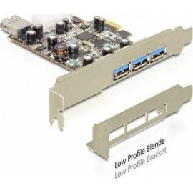 DeLock PCIe σε 3 εξωτερικές και 1 εσωτερική θύρα USB 3.0