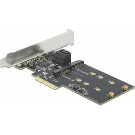 DeLock Κάρτα PCIe σε 1 θύρα M.2 & 3 θύρες SATA