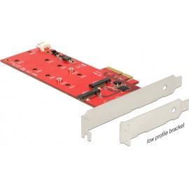 DeLock Κάρτα PCIe σε 2 θέσεις M.2