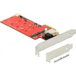 DeLock PCIe x4 2x εσωτερικές M.2 + 2x SATA 6 Gb/s με RAID