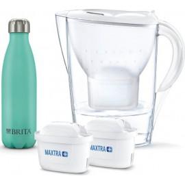 Brita Marella Maxtra+ white w. 2 Filter Cartridges +Thermal Flask